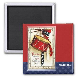 USA  Patriotic  Vintage 2 Inch Square Magnet