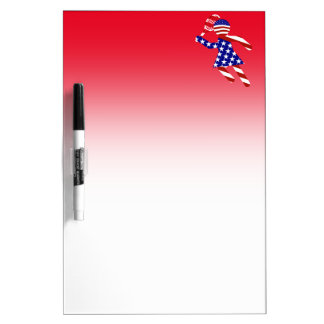 USA Patriotic Womens Tennis Player Dry-Erase Whiteboard