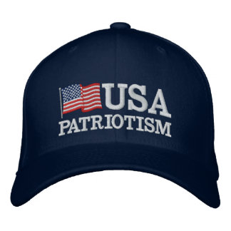 USA Patriotism Flag B Embroidered Hat