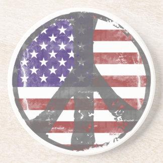 USA Peace Coasters