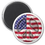 USA Peace Flag Fridge Magnet