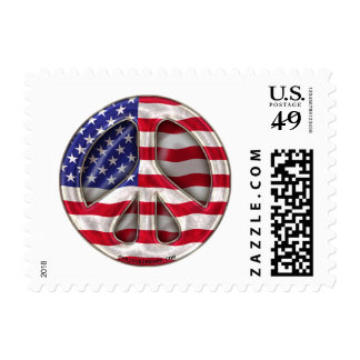 USA Peace Flag Postage