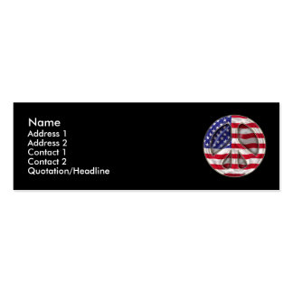 USA Peace Flag Profile Card Business Card Templates