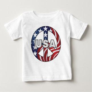 USA Peace Sign T Shirt