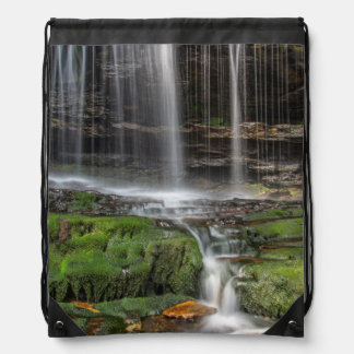 USA, Pennsylvania, Benton. Delicate Waterfall Drawstring Bag