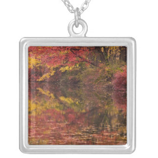 USA, Pennsylvania, Delaware Water Gap National Square Pendant Necklace