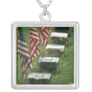 USA, Pennsylvania, Gettysburg. Civil war Silver Plated Necklace