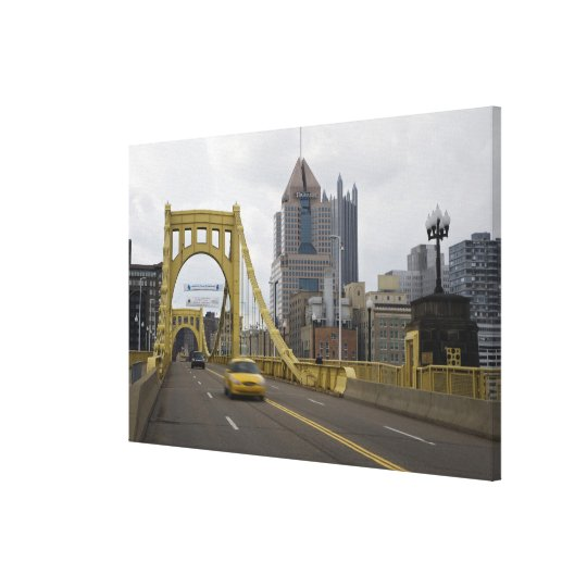 USA, Pennsylvania, Pittsburgh. The 6th Street Canvas Print