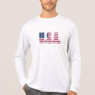 USA Performance Micro-Fiber Long Sleeve Tee Shirts