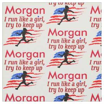 USA PERSONALIZED TRACK AND FIELD FABRIC