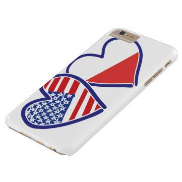 USA Poland Flag Hearts Barely There iPhone 6 Plus Case
