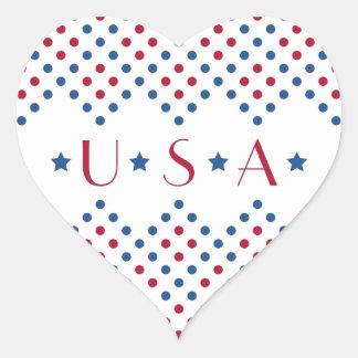 USA Polka Dots Sticker