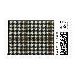 USA Postage Burns Check Modern Tartan Print