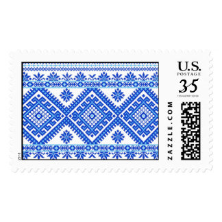 USA Postage Ukrainian Cross Stitch Print