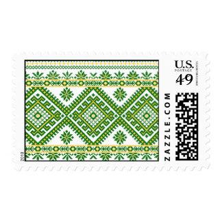 USA Postage Ukrainian Embroidery Print