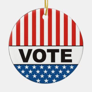usa president elections vote badge political 2012 ceramic ornament