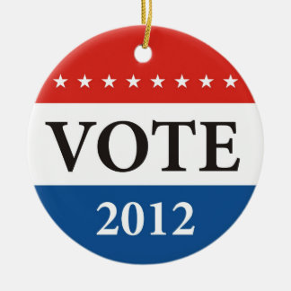 usa president elections vote badge political 2012 ceramic ornament