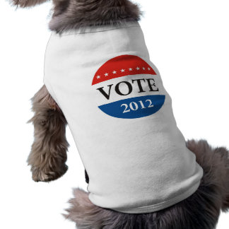 usa president elections vote badge political 2012 doggie tshirt