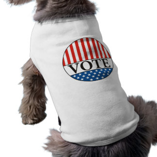 usa president elections vote badge political 2012 pet tee shirt