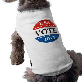 usa president elections vote badge political 2012 dog t-shirt