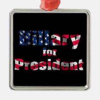 USA Presidential Election  Premium-Square-Ornament Square Metal Christmas Ornament