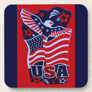 USA Pride Cork Coaster