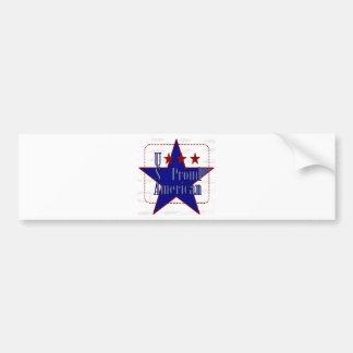 USA-Proud American Bumper Sticker