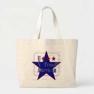 USA-Proud American Large Tote Bag