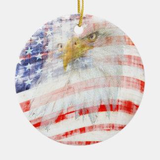 USA Proud Ceramic Ornament