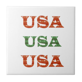 USA - Proud IDENTITY Sparkle RED ENERGY STRENGTH Tile