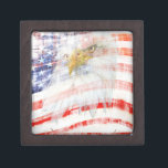 """USA Proud Jewelry Box<br><div class=""""desc"""">USA Flag and Eagle design. Perfect for Memorial Day,  Independence Day,  Flag Day,  Veteran&#39;s Day,  etc.</div>"""