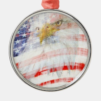 USA Proud Metal Ornament