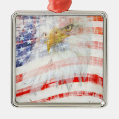Usa Proud Metal Ornament at Zazzle