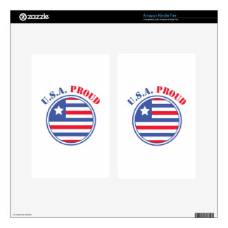 USA Proud Decal For Kindle Fire