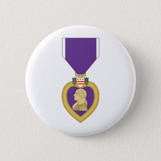 USA Purple Heart Medal Pinback Button