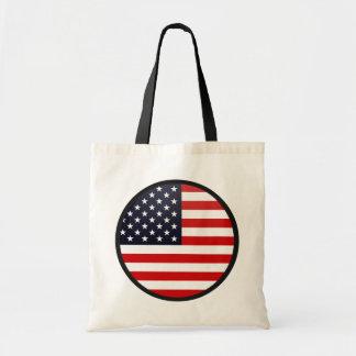 Usa quality Flag Circle Budget Tote Bag
