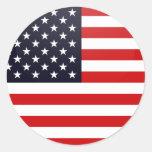 Usa quality Flag Circle Classic Round Sticker