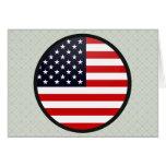 Usa quality Flag Circle Greeting Card