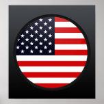 Usa quality Flag Circle Posters