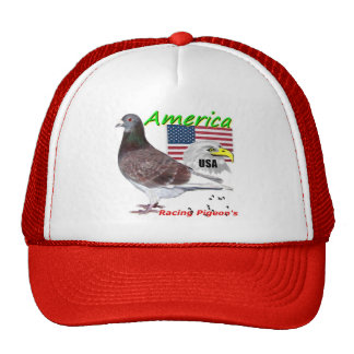 USA Racing Pigeon American Trucker Hat