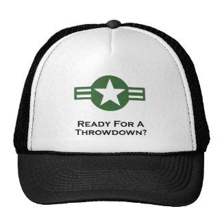 USA Ready For A Throwdown Green Trucker Hat