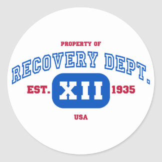 USA Recovery Classic Round Sticker