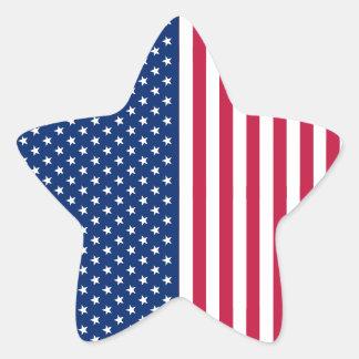 USA Red Blue White US Stars Stripes Star Stickers