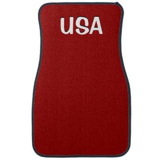 USA Red Car Floor Mats
