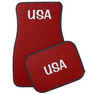 USA Red Car Mats
