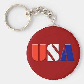 USA - (red) Keychain