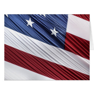 USA Red, White and Blue American Patriotic Flag Card