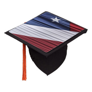 USA Red, White and Blue American Patriotic Flag Graduation Cap Topper