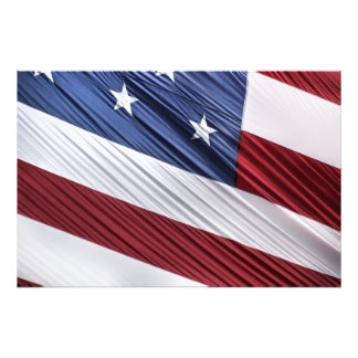 USA Red, White and Blue American Patriotic Flag Photo Print