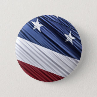 USA Red, White and Blue American Patriotic Flag Pinback Button